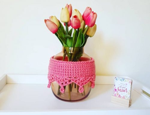 Boho Vase/ Pot / Jar Crochet Cozy